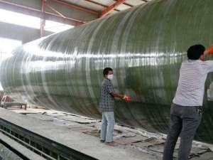 玻璃钢脱硫塔加工制造过程