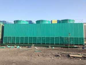 江苏华尔建材玻璃钢冷却塔安装现场
