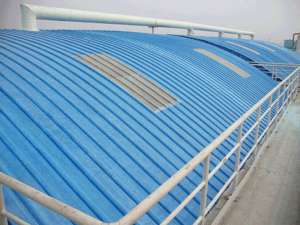 大跨度拱形玻璃钢集气罩