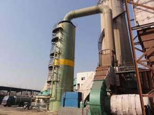 山东玻璃钢锅炉脱硫塔现场